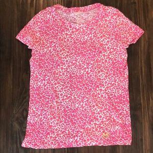 Michael Kors Short Sleeve Cheetah Print Shirt